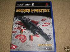 SOLDIER OF FORTUNE GOLD EDITION SONY PLAYSTATION 2 PS2 Boxed Game Disc Instructi