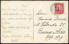2667 BRAZIL TO ARGENTINA POSTCARD 1918 MOGY DAS CRUZES, SP - BUENOS AIRES