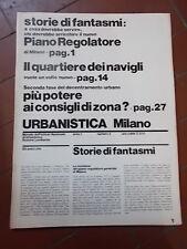 URBANISTICA MILANO n°2 anno I - MARZO 1974  MENSILE IST.NAZIONALE URBANISTICA