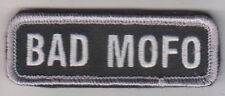 BAD MOFO SWAT BLACK OPS COMBAT ISAF TACTICAL BADGE MORALE MILITARY PATCH