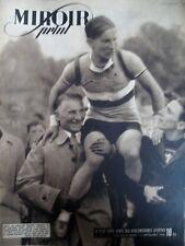 CYCLISME CHAMPIONNAT DU MONDE POURSUITE HENRI AUBRY N° 15 MIROIR SPRINT 1946