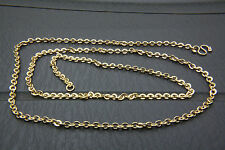 STAINLESS STEEL RHINESTONE GOLD CHAIN ANCHOR NECKLACE 3 MM WIDE 56 LONG 207
