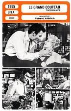 FICHE CINEMA : LE GRAND COUTEAU - Palance,Lupino,Aldrich 1955 The Big Knife