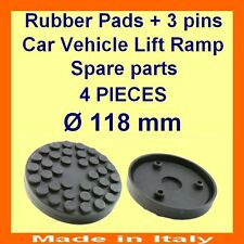 SET OF 4 PADS Ravaglioli 2 Post Car Lift Ramp Rubber Pads +3 pins-118mm -Italy-@