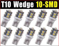 10 pcs T10 Xenon White LED 10-smd Wedge Car Light Bulb Lamp W5W 194 168 158 192