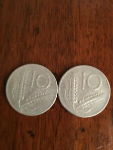 Silbermünze 10 Lire Der 1954