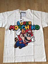 "MOSCHINO X Jeremy Scott X Nintendo ""Super MOSCHINO"" Mario Fly T-Shirt Sz X-Small"