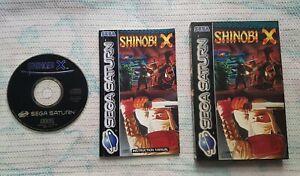 Sega Saturn SHINOBI X COMPLETE PAL - UK Version !