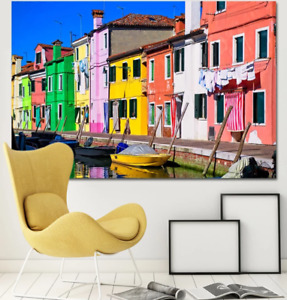 3D Colored House ZHUA3875 Wallpaper Wall Murals Removable Self-adhesive Zoe
