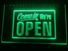 Come In Were Open Led Neon Light Sign Bar Club Pub Shop Business Advert Decor