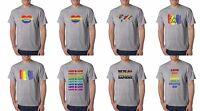 Gay Pride T-Shirt Rainbow Flag LGBT Marriage Love Wins Tee Shirt
