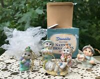 Dreamsicles Nativity Ornaments 5 of 6 pc Set Christmas Figurines in Original Box