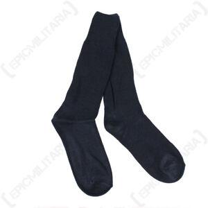 Italian Navy Blue Wool Socks - New - Quality Army Air Force Military Boot Socks