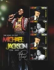 Gambia - Michael Jackson in Memoriam 1958 - 2009 Sheet of 4 Stamps (#2) MNH