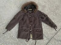 Men's 2007 GAP 69 G.I. Cold Weather Brown Parka Army Jacket With Hood Sz Medium