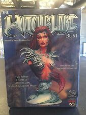 "WITCHBLADE BUST CLAY BURN MOORE CREATIONS 7"" FULLY PAINTED 377/5000"