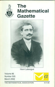 """The Mathematical Gazette"" - Volume 86, Number 505, March 2002,  