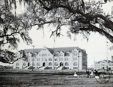 """New Orleans """"TULANE UNIVERSITY SEEN FROM CITY PARK."""" in 1900 Reprint Vintage Pho"""