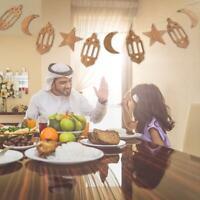 Islam Eid Ramadan Mubarak Decorations Wooden Golden Hanging Lantern-Baubles 1.5M