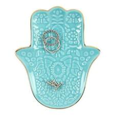 Turquoise Hamsa Hand Jewellery Dish ~ Good Luck Trinket Holder ~ New & Boxed