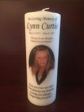 "8"" Memorial Candle, Wedding Candle, Funeral, Tribute, Unity, Photo, Personalized"