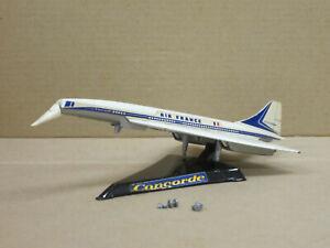 """Flugzeug Concorde """"Air France"""" mit Ständer, weiß/silber, ohne OVP, Corgi, 1:400"""