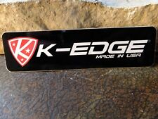 K-EDGE  Bike sticker MTB ride decal bicycle race pedal