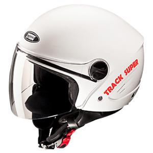Studds Track Super Open Face Helmet White Colour With Visor