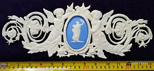 LARGE FRENCH ANTIQUE LOUIS XVI STYLE WHITE RESIN WALL DOOR MOULDING DECORATION