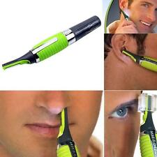 LED Micro Touch Trimmer Nose Ear Eyebrow Sideburn Hair Shaver Battery Powered RS