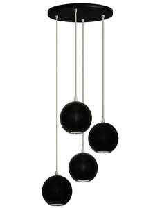 IRVING 4 - LIGHT CLUSTER PENDANT BLACK