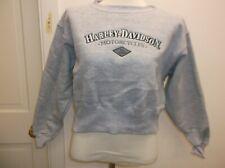Harley-Davidson Women's cropped crop Top sweatshirt Embroidered Gray XL New