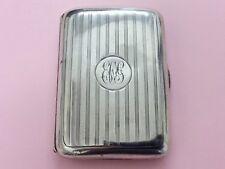 Antique Sterling Silver Harrods Cigarette Case 1915