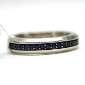 DAVID YURMAN Mens New 6mm Streamline Blue Sapphire Band Ring 11