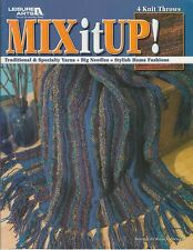 Leisure Arts Mix it Up! afghan throw knitting pattern book 4 designs - 2005 - DW