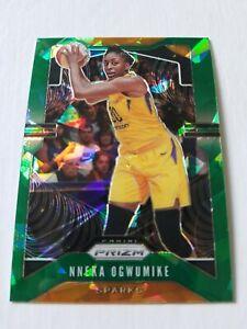 Nneka Ogwumike 2020 Panini Prizm WNBA SP Green Cracked Ice- Sparks