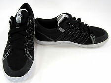 K-Swiss Shoes Canvas Stitched Classic Trainers Black/White Sneakers Size 11