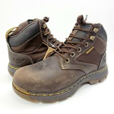 Dr. Martens Holford Waterproof Construction Boots Mens 8 Brown AirWair NEW