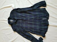 LADIES SUPERDRY GREEN CHECK SHIRT SIZE MEDIUM 12