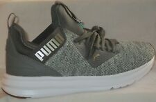 MEN'S PUMA ENZO BETA WOVEN CHARCOAL GREY-METALLIC GOLD    SHOES SIZE 8