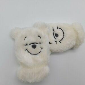 12 - 18 Months - White Baby Mittens - Disney - Winnie The Pooh