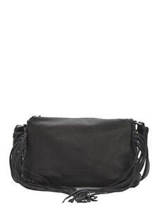 $280 NEW Liebeskind Berlin Sapporo F7 Leather Fringe Tassel Crossbody Bag Black