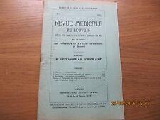 Revue Médicale de Louvain N°8 1933 La vitamine antipellagreuse