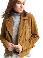 NWT GAP Suede Leather Moto Jacket, Camel, sz S