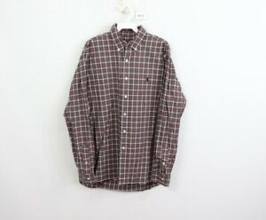 Ralph Lauren Mens Size 16.5 42 Multi-Color Plaid Long Sleeve Dress Shirt Cotton
