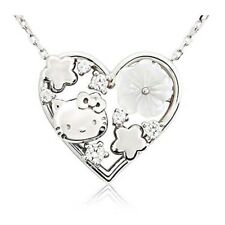 Hello Kitty Flower Bouquet Necklace Silver Sanrio Fast Shipping From Japan EMS