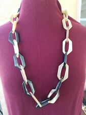 Vince Camuto Acrylic Plastic Chunky Link Chain Necklace