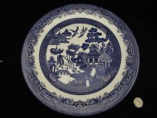 "BLUE WILLOW JOHNSONS BROTHERS LARGE 12 3/4""  SERVING OR CHOP PLATE ENGLAND"