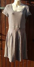 Pretty WHITE STUFF Mocha/White Striped Tunic/Dress, Size 12