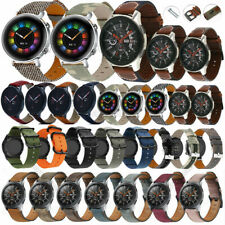 For Samsung Watch 46mm Gear S3 Classic Leather Quick Release Pin Strap Band 22mm